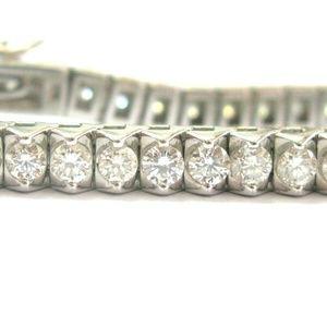 Jewelry - Round Diamond Tennis Bracelet TWO PRONG 14Kt White